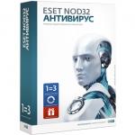 Антивирус Eset NOD32 на 1 год для 3 ПК или продление на 20 месяцев (NOD32-ENA-1220 BOX-1-1)