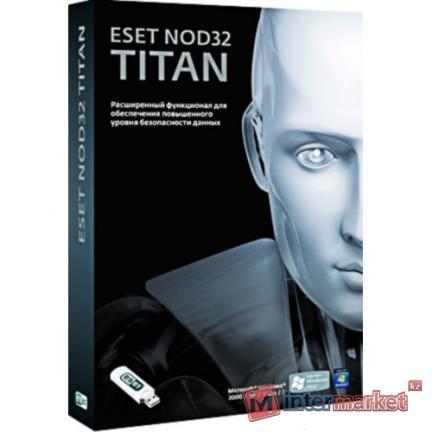 Антивирус NOD32 Titan, NOD32-EST-NS(BOX)-1-1, подписка на 1 год, на 1 ПК, box