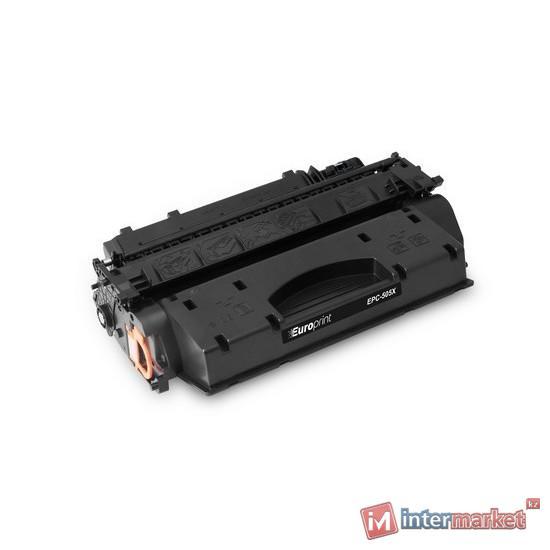 Картридж, Europrint, EPC-505X (CE505X), Для принтеров HP LaserJet P2055, 6500 страниц.