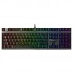 Клавиатура, Rapoo, V700RGB, Игровая, USB, Кол-во стандартных клавиш 87, Длина кабеля 1,8 метра, Анг, Чёрный