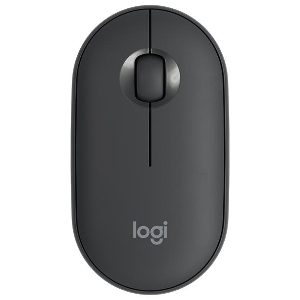 Беспроводная мышь L910-005718 LOGITECH Pebble M350 Wireless Mouse - GRAPHITE - 2.4GHZ/BT - EMEA - CLOSED BOX